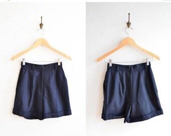 30% OFF STOREWIDE / Vintage 1990s navy blue wool shorts