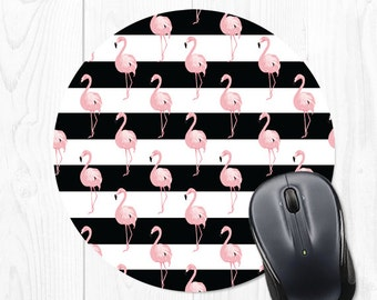 Mouse Pad Flamingo Mousepad Pink Mouse Mat Flamingo Office Supplies Office Desk Accessories Cubicle Decor Office Decor Coworker Gift