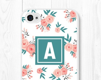 iPhone 6 Case Floral iPhone 6 Plus Case Samsung Galaxy S7 Case Personalized Phone Case Monogram iPhone 5 Case Floral iPhone 5s Case