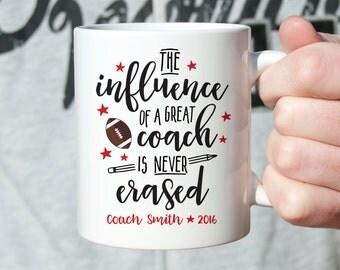 Coach Gift Football Coach Gift Ideas Coach Gifts Christmas Gift for Coach Mug Coach Coffee Mug Birthday Gift for Football Coach Custom Red