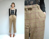 Plaid Wool Pants  //  Plaid Trousers  //  THE MONTAGUE