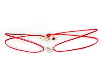 Diamond Solitaire cord bracelet, friendship bracelet, luxury friendship bracelet, diamond, minimalist jewelry