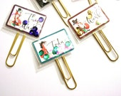 Set of 3 Fox Planner Paper Clip Shaker Clip with Sequins
