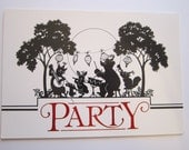8 vintage PARTY INVITATIONS - animal party, animal band, American Greetings