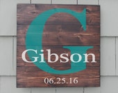 Rustic name sign custom name sign Pallet Sign, Reclaimed wood sign Hand Painted rustic wood sign
