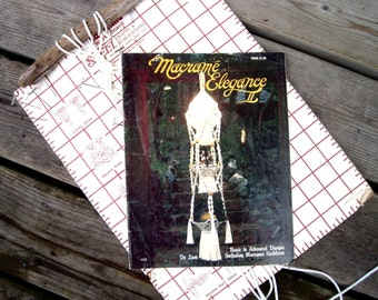 Macrame Pattern Book - Retro DIY Hammock to Knot - Plant Hangers - Necklace Patterns