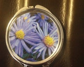 Flower image Compact Mirror -Handmade-FREE SHIPPING-