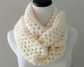 CROCHET PATTERN - Chunky Crochet Infinity Scarf Pattern, Infinity Cowl Pattern, Beginner Crochet Pattern, Chunky Cowl Pattern