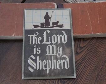 Vintage Christian print