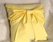 July Sale Yellow Bow Pillow - Decorative Pillow