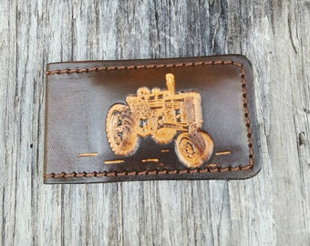 Magnetic Money Clip with Tractor