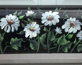 rural residential Hand Painted  mailbox DAISIES mailbox UV Resistant mediums, large or standard painted mailbox