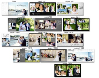 Wedding Album template for Photographers - 1019FA