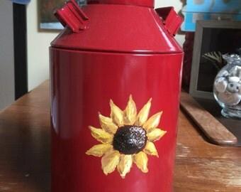 Sunflower Mini Milk Can