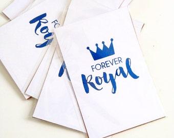 Kansas City Royals Decor - Foil Print - Take the Crown Forever Royal - KCMO Baseball Decor - World Series - KC Royals Coasters
