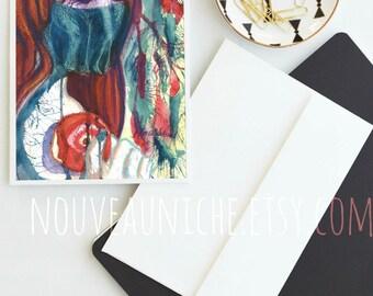 The Veil, Art Card, Blank Notecard, Temptation, Apple