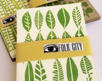Set of Six Folk City Letterpress Blank Greeting Cards: Botanical Series