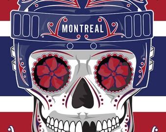 Montreal Canadians Sugar Skull Print 11x14 print