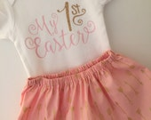 First Easter outfit;  Baby Girl Outfit; easter dress; easter outfit