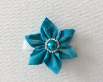 Light Blue Dog Collar Flower- Ready to Ship