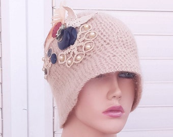 vintage wool hats /vintage hat /women /vintage red Hats / Hats & Caps / hat vintage1960 /Free fast Shipping