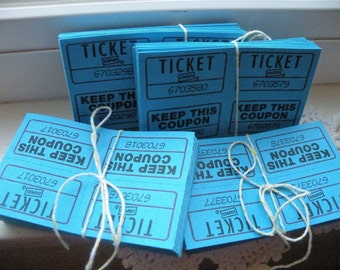 50% off this item, enter LOVE99 at checkout, BlueTickets, Lot of 40, Carnival Tickets, Blue, Tickets, Party Tickets, Scrapbooking, Ephemera