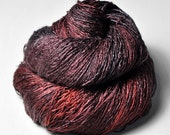 Cold lava OOAK - Tussah Silk Lace Yarn