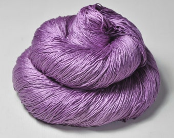 Poisonous crocus OOAK - Silk Lace Yarn