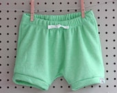 Baby Shorts - Baby Girl Shorts - Baby Boy Shorts - Baby Sweatpants  - Baby Shorties - Baby Joggers - Mint