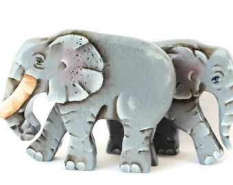 Wooden Noah's Ark Elephants