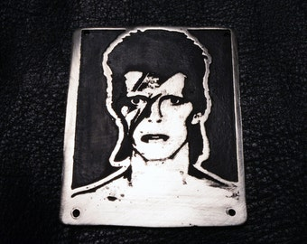 David Bowie metal badge