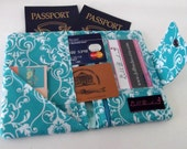 Dollbirdies Small Deluxe Passport Wallet w/ ID Window, Zipper Pocket,Two Credit Card Slots, Travel Wallet, Passport Wallet, Passport Cover