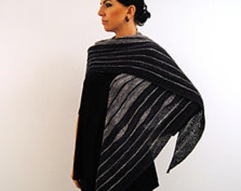 TREMBLE Knitting Pattern PDF Fingering Weight Shawl