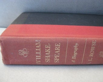 SHAKESPEARE BIOGRAPHY, cloth bound vintage book