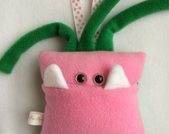 Tooth Fairy Pillow | Pink and Green Tooth Monster | Tooth Fairy Monster Pillow