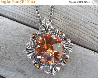 ON SALE Large medieval Queens necklace in sterling silver