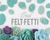 Felt Ovals // Felt-Fetti by Benzie // Felt Shapes, Die Cut Shapes, Succulent Craft, Felt Plants, Terrarium Kit, Felt Flowers, Flowers DIY