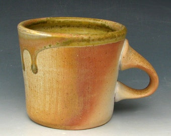 WOOD-FIRED MUG #26 - Woodfired Mug - Wood Fired Mug - Wood-Fired Pottery - Anagama - Ash Glazed Mug