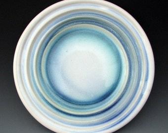 STONEWARE DINNER PLATE - Ceramic Dinner Plate - Blue Plate - Large Plate - Flatware - Dinnerware - Dishes - Studio Pottery