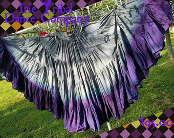 Ashes to Ashes/  Violet Blue Hand Dyed 25yd Skirt