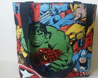 Super Awesome Super Hero Avengers tote bag *Crystal Ceresse*