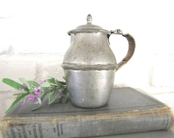 Vintage French Pewter Creamer 1800's  Farmhouse From AllieEtCie