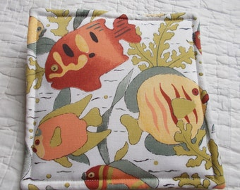 Fish Quilted Hot Pad /Pot Holder/mini quilt