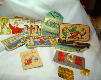 1930s 1940s 1950s Sewing Needle Cards.
