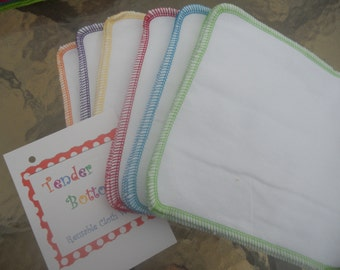 30 Ct 1 Ply Tender Bottoms Baby Wipes 8 inch Square