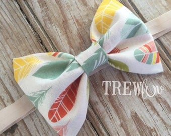 Feather bow band