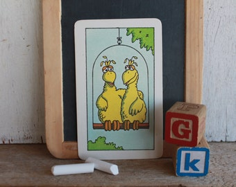 Vintage Muppets Flash Card // 1978 Muppets // TWO // Two Yellow Birds