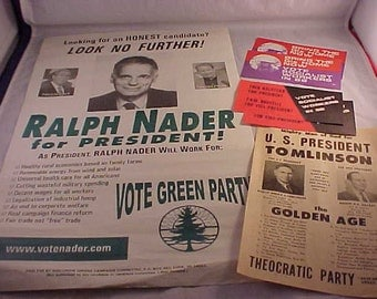 Third Party Political Paper Collectibles