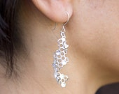 Bee and Honeycomb Spiral Earrings
