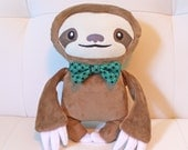 Dapper Sloth Handmade Plush Doll